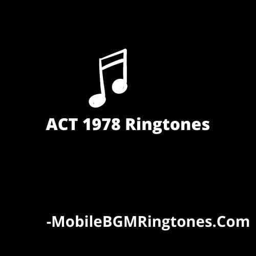 ACT 1978 Ringtones and BGM Mp3 Download (Kannada)